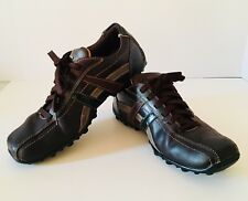 Sketchers Citywalk Mens Leather Lace-up Shoes Size 10 Oxford Casual Drivers Heel