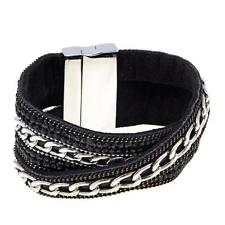 """Real Collectibles by Adrienne Stone and ChainLink WrapStyle 712"""" Bracelet"""