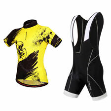 Summer Men's Cycling Set Short Sleeve Jersey Padded Bib Shorts Racing Team Wear