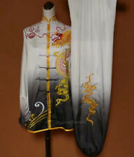 Embroidery Tai chi Uniform Kung fu Martial arts Clothing Wing Chun Suit