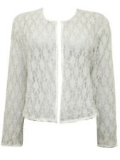Womens plus size 26   top shrug WHITE lace jacket long sleeves evening SALE !