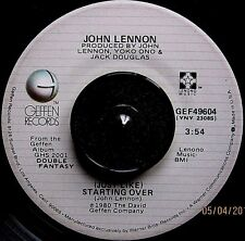 John Lennon-(Just Like)Starting Over/Yoko Ono-Kiss,Kiss,Kiss 45 Orig.'80 Geffen!