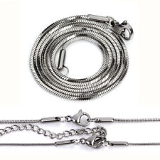Wholesale 5pcs/lots 1.1mm*45cm Stainless Steel Snake Chain Necklace DIY Jewelry
