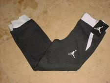 NWT NIKE JORDAN JUMPMAN ZIPPED UP SLIM JOGGER SWEATPANTS HEATHER GRAY SZ 4 OR 6
