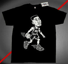 New Fnly94 Pippen Air Uptempo more  tshirt Black jersey gold red scottie M L XL