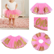 Baby Girl Birthday Tutu Hat One 1 Year 12 Months Pink Cute Sparkle New