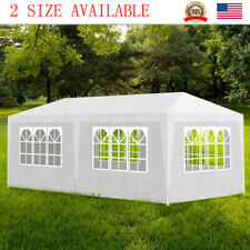 10'x30'/20' White Outdoor Gazebo Canopy Wedding Party Tent 6/8 Removable Walls