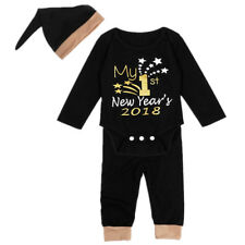 Toddler Baby Boy Girl Christmas New Year Romper Pants Leggings Outfits Clothes
