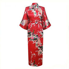 Women Kimono Bathrobe Chinese Vintage Style Night Gown Sleepwear Ladies Robe
