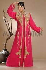MODERN ARABIAN ISLAMIC GEORGETTE WEDDING  THOBE ELEGANT FANTASY DRESS 3985