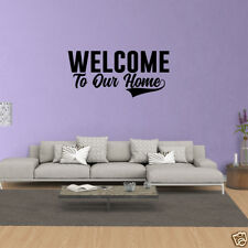 Wall Decal Quote Welcome To Our Home Vinyl Decal Sticker Home Decor JP369