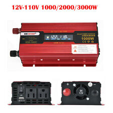Portable Car LED Display Power Inverter WATT DC 12V to AC 110V Charger Converter