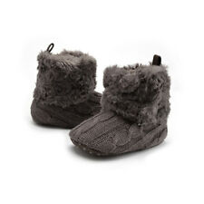 Hot Baby Infants Winter Autumn Warm Knitting Soft Fur Thicken Crib Shoes Boots