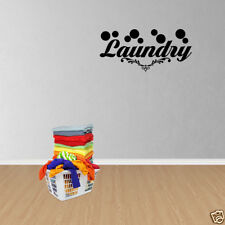 Wall Decal Quote Laundry Room Decor Wall Art Vinyl Lettering Decals PC302