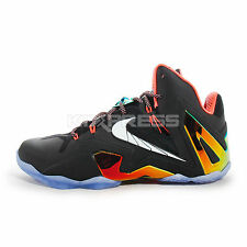 Nike Lebron XI Elite [642846-002] Basketball Black/White-Gold-Bright Mango