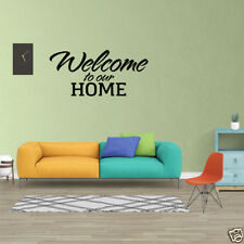 Wall Decal Quote Welcome To Our Home Vinyl Window Decal Sticker Home Decor PC423