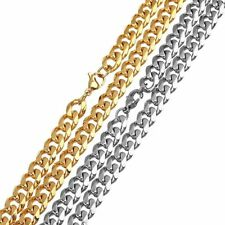 Gold Plated 60cm*8mm Stainless Steel Bulk Chains Fit Bracelets Necklace Findings