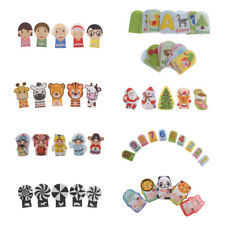 Novel Flashcard Finger Puppet Baby Doll Educational Cognition Cartoon Animal Toy