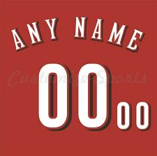 Baseball Cincinnati Reds Alternate Red Jersey Customized Number Kit un-stitched