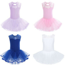 Kid Girl Ballet Tutu Skirt Dress Gymnastics Dancewear Dance Party Costume 3-14Y