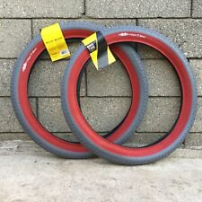 1 PAIR GT POOL LP-5 TIRES 20 X 2.35 GREY W/ RED BMX BIKE TIRE FIT SHADOW PRIMO