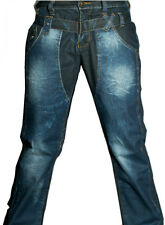 Mens Jeans designer blue Trousers Denim Straight leg High Waisted 30 32 34 36 38
