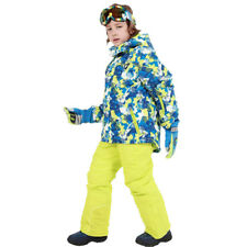 New Kids Waterproof Ski Snowboard Suit Ski Jacket + Salopettes Ski Pants