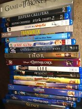 HUGE BLU-RAY DVD MOVIE LOT YOU CHOOSE TITLE New and Used Disney Horror Kids