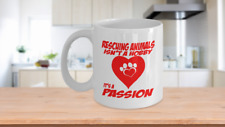 Rescuing Animals Coffee Mug - Black and White Coffee Cup - Animal Lover Gift