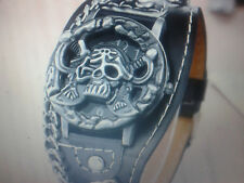 WATCH NEW Steampunk Gothic PUNK, skull crossbones chains