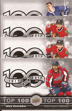 2017 2018 Tim Hortons TOP 100 Checklist Card# TOP-1 to 7 SELECT YOUR CARD !!!