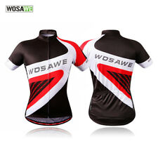 Mens Cycling Short Sleeve Jersey Summer Riding Breathable Shirt Tops Sports