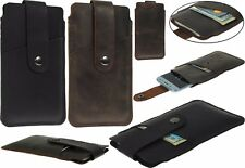 HANDCRAFTED SLEEVE WITH CARD POCKET GENUINE LEATHER CASE COVER FOR APPLE IPHONE