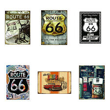 EP_ US Route 66 Highway Road Historic Metal Tin Sign Plaque Home Wall Decor Nove