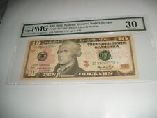PMG FR2040-G 2006 $10 FED RESERVE STAR NOTE CHICAGO  V/FINE 30