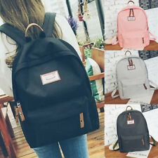 Women Men Canvas Backpack Travel Satchel Rucksack Satchel Shoulder School Bag