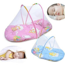 EP_ Foldable Portable Infant Baby Mosquito Net Crib Bed Tent with Pillow Mystic
