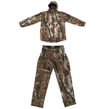 Breathable 3D Camo Hooded Jacket Pants, Trousers Hunting Camouflage Suit