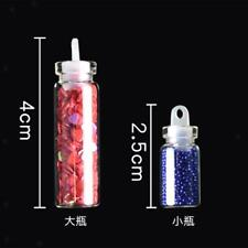 Shiny Nail Art Powder Dust Decoration Tool 48 Color Sequin Strips Slices Set