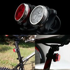 USB Rechargeable Cycling Bicycle Bike 3LED Head Front Rear Tail Clip Light Lamp