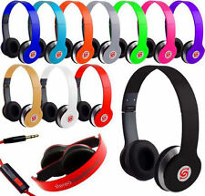 New STEREO HEADPHONES DJ STYLE FOLDABLE HEADSET EARPHONE OVER EAR MP3/4 3.5MM