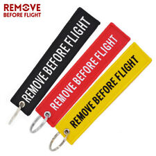 Remove Before Flight Tag Airworthy Key Chain Embroidery Keyring for Aviation Tag