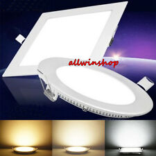Dimmable 6W 9W 12W 15W 18W LED Recessed Ceiling Panel Down Lights Bulb Fixture V