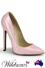 NEW Devious Classic 5 inch Baby Pink Patent Pump, Stiletto, Womens Sexy Shoe