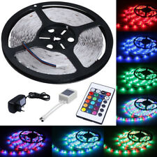 5M Led RGB strip Light 3528 SMD 300leds Waterproof Remote Controller 12V Adapter