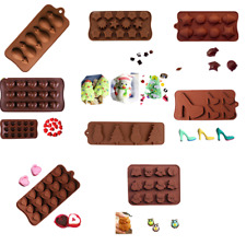Silicone Chocolate Mold Cake Decor Candy Cookie Soap Ice Cube Jelly Mould New