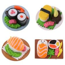 Miniature Japanese Food Rice Roll/Salmon Sushi for Dollhouse Kitchen Decor 1:12