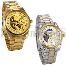 New Mens Luxury Mechnical Stainless Steel Band Sport Wrist Watch Jewelry Gift