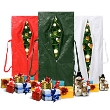 Heavy Duty Large Christmas Tree Storage Bag For Xmas Holiday 9ft Red/Green/White