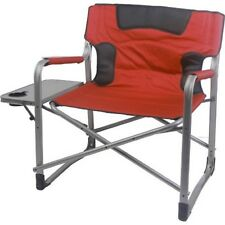 Director Camping Chair With Side Table Folding Heavy Duty Fishing Outdoor Metal